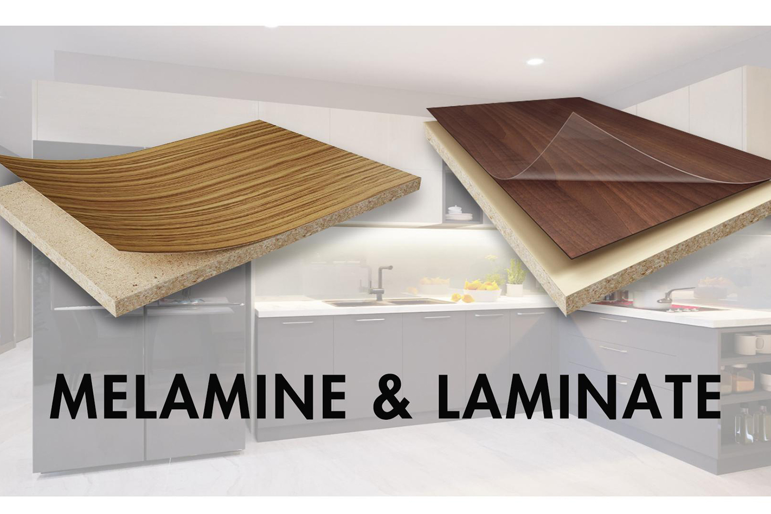 The difference between Melamine & Laminate